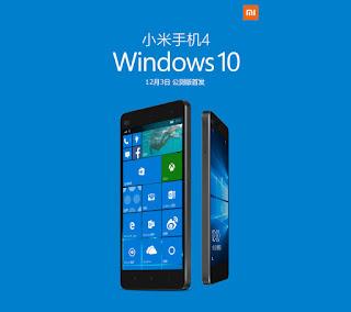 ROM Windows 10 versi final untuk Xiaomi Mi4 akan mulai digulirkan tanggal 3 Desember