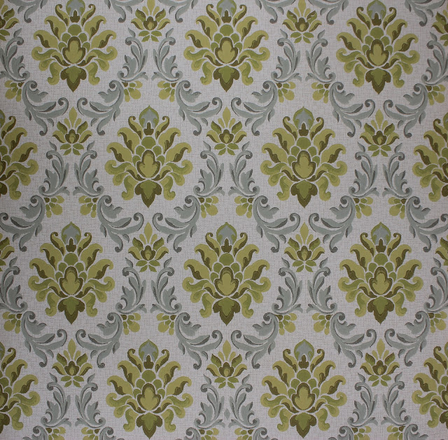 This Week My Focus Has Been On Listing Vintage Damask Wallpaper On Etsy Im Loving These Patterns That Were Manufactured In West Germany