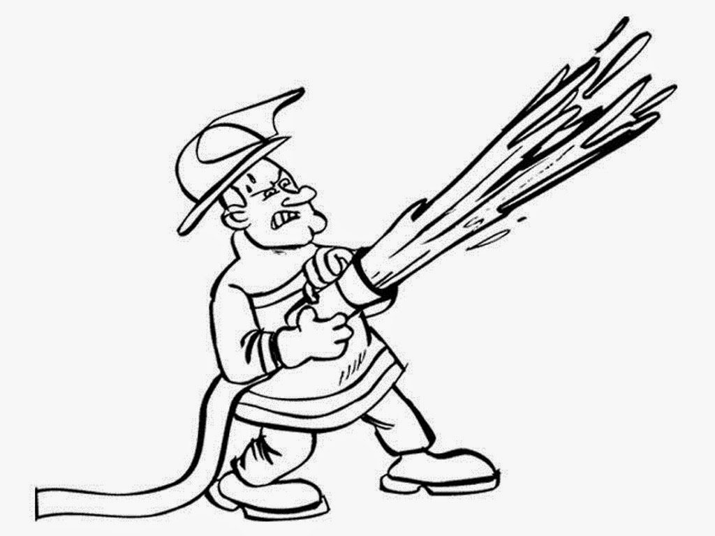 coloring book pages fireman hat - photo#28