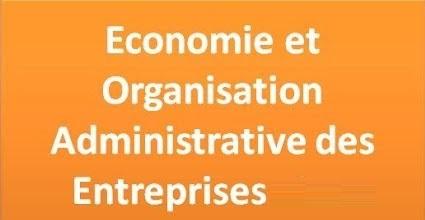 Economie et organisation administrative des entreprises التنظيم الإداري للمقاولات