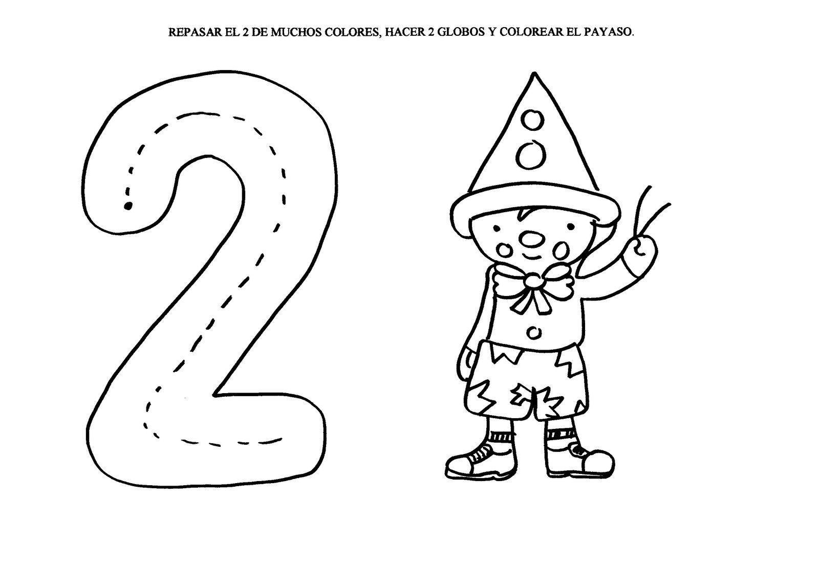 Dibujos Para Colorear Números Infantil ~ Ideas Creativas Sobre Colorear