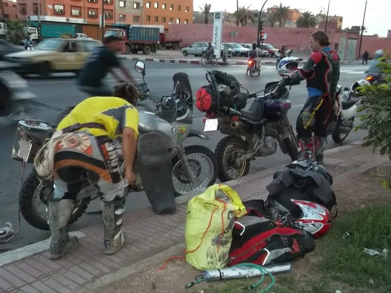 Llegando a Marrakech