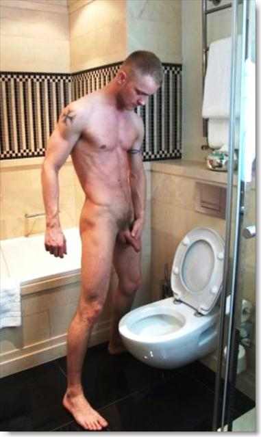 Pissing nude man Hot