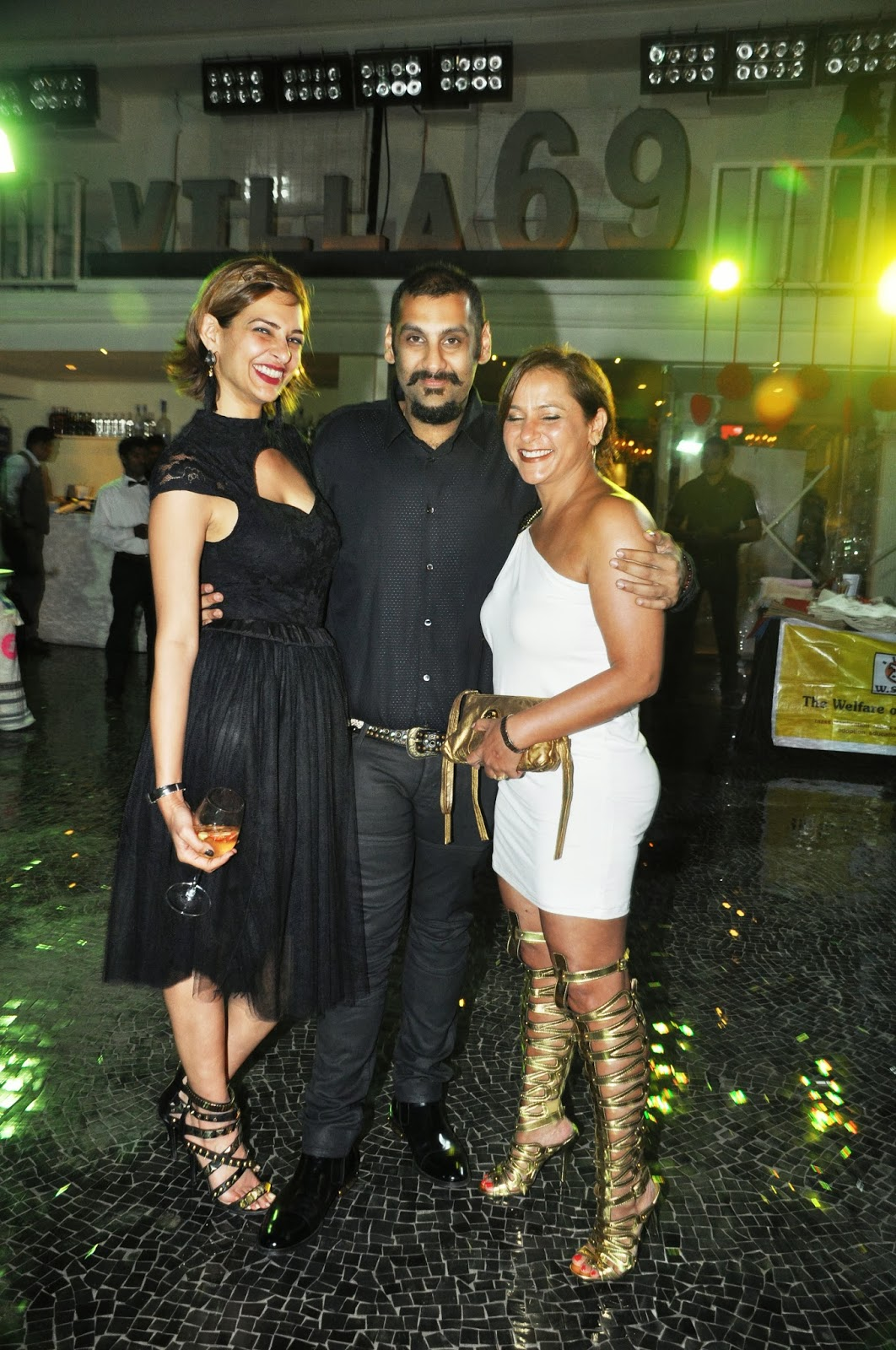 Blacklist Events Directors Atiya Goni & Dipika Agarwal with Suved Lohia of Villa 69
