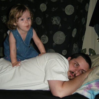 Sasha and Daddy ~ playing in bed