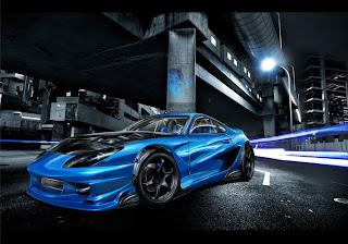 Animated Toyota Supra Wallpaper | Image | Photo | Red | Blue | black