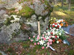 Marja-Leenan viimeinen lepopaikka Levon hautausmaalla