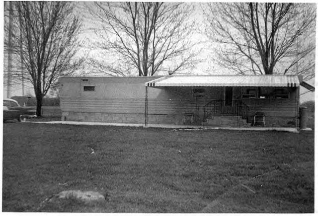 House Trailer Or Mobile Home On Private Property 1960s