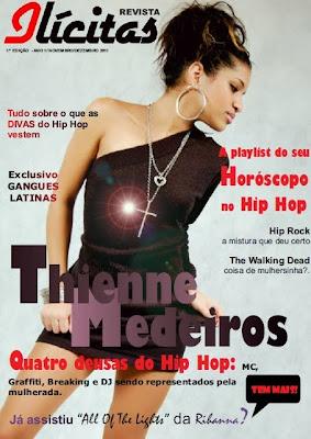 """Thiene Medeiros do Trio @Boomboxtrio capa da Revista """"Ilicitas"""""""