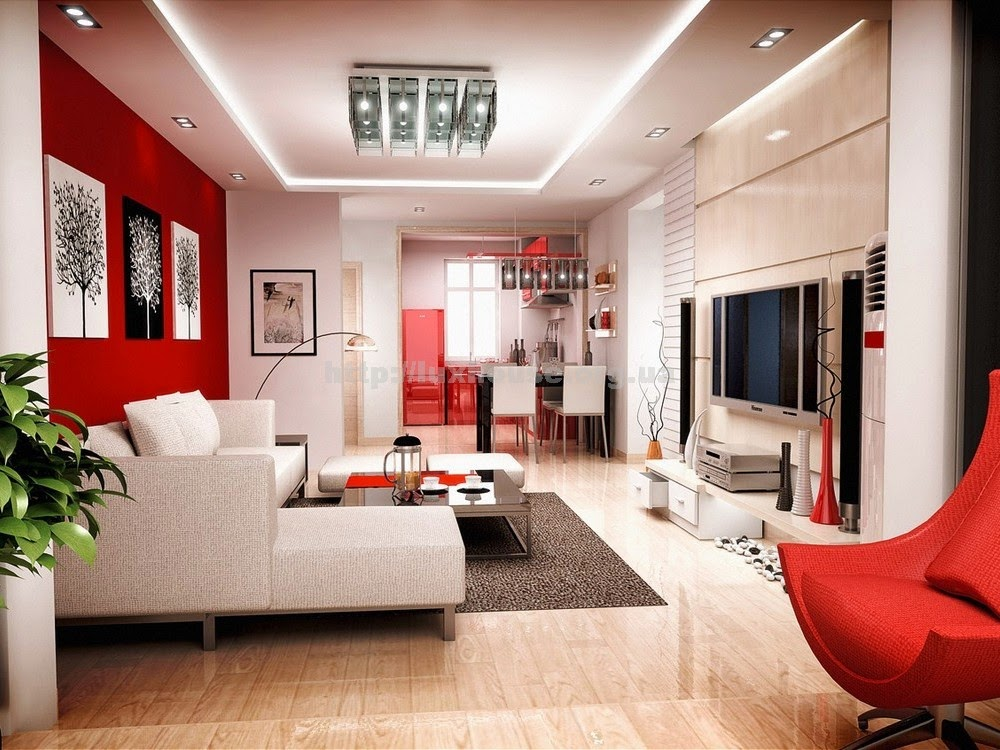 Living Room Design Small Spaces Beauteous 100 Best Red Living Rooms Interior Design Ideas  Living Rooms Inspiration Design