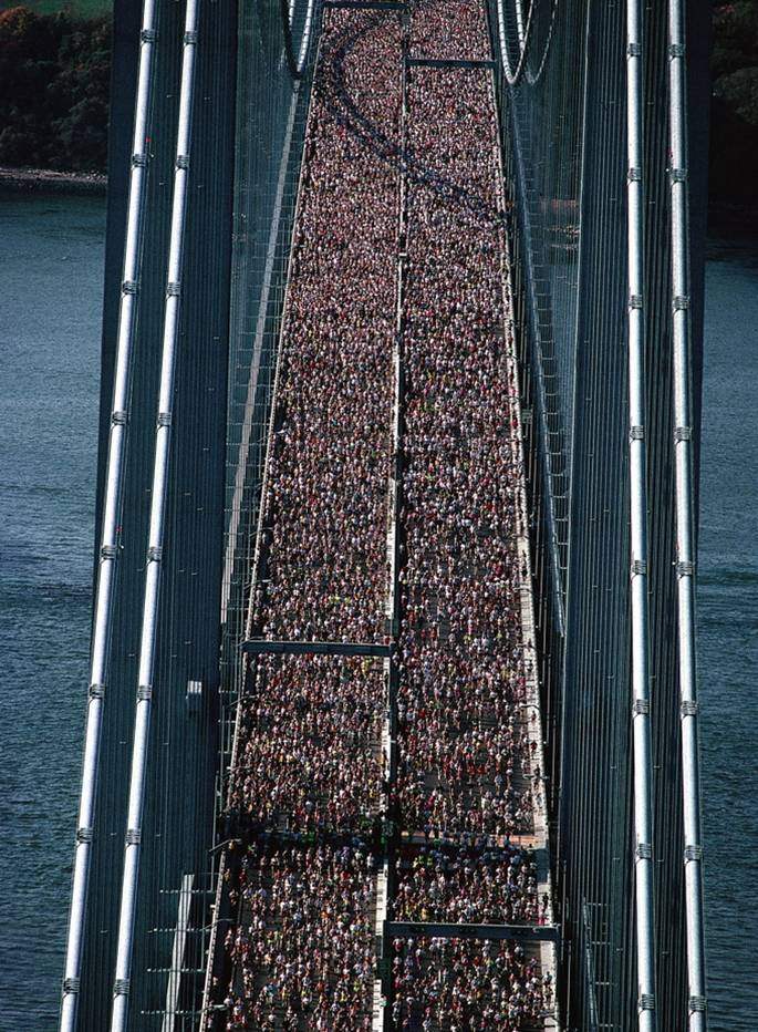 Start the marathon in New York City, 1977