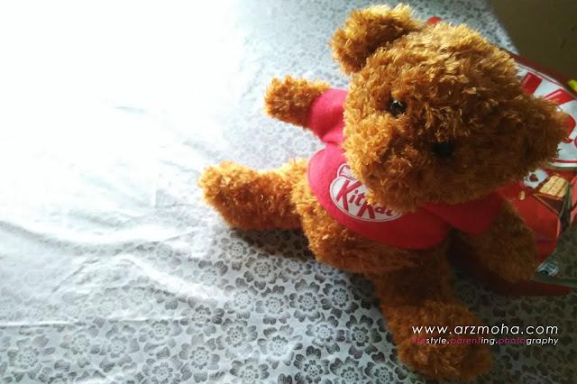 teddy bear kitkat, kitkat edisi khas teddy bear, cantik tak teddy bear kitkat, koleksi teddy bear kitkat,