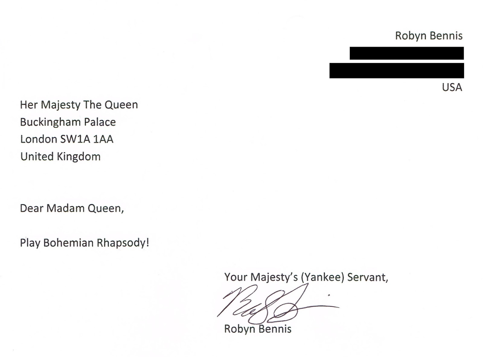According2robyn letter writing has not gone out of style letter to queen of england bohemian rhapsody ccuart Gallery
