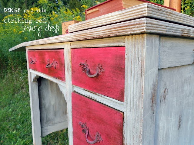 Red Sewing Desk Makeover: My Favorite Posts from 2013 via http://deniseonawhim.blogspot.com