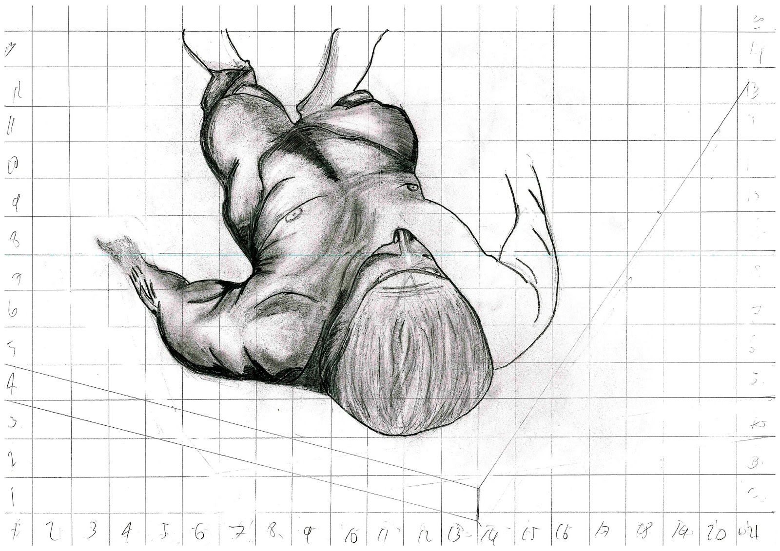 1188946069 : Life drawings- experimenting with the human anatomy