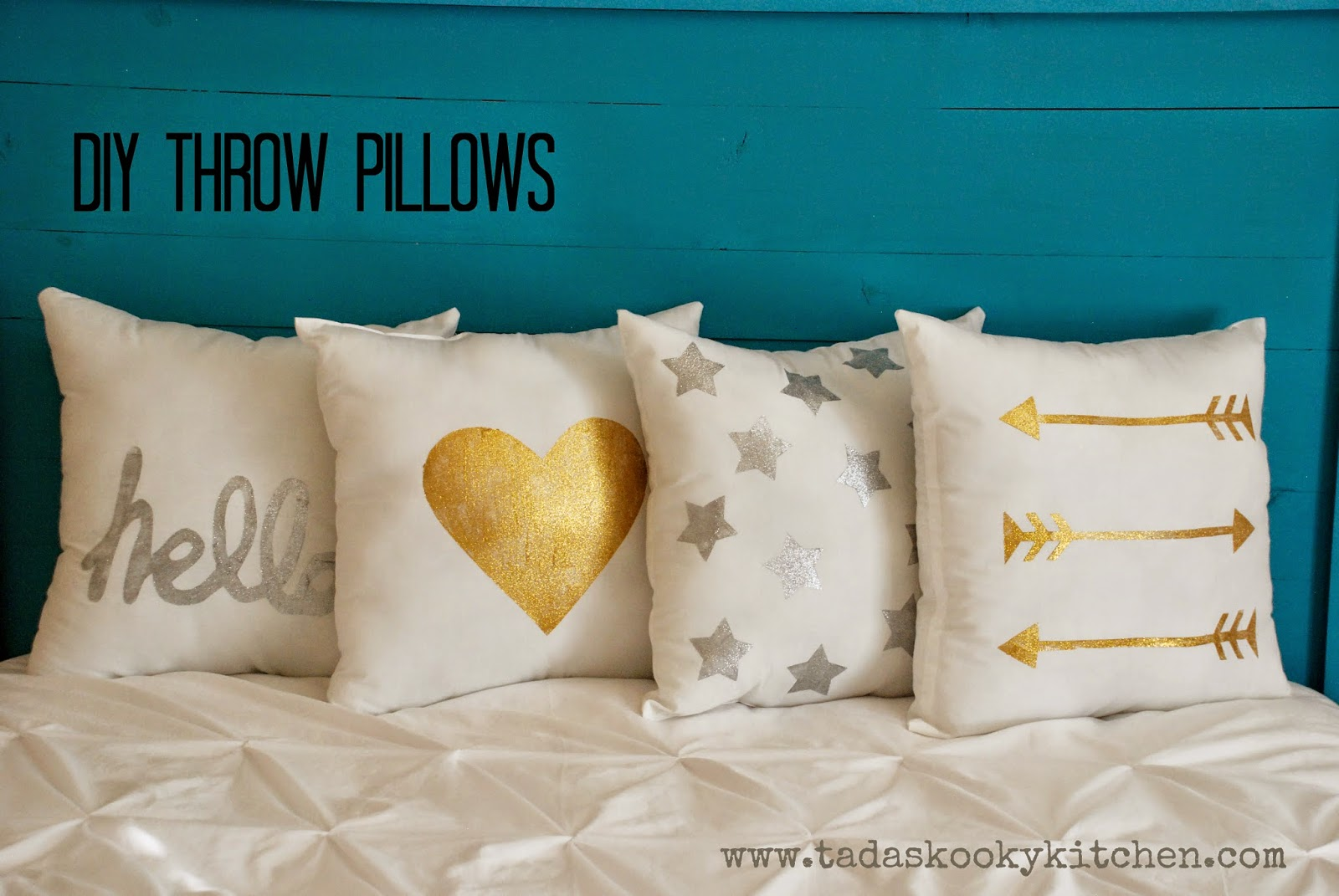 Diy Throw Pillow Instructions : Tada s Kooky Kitchen: DIY Throw Pillows