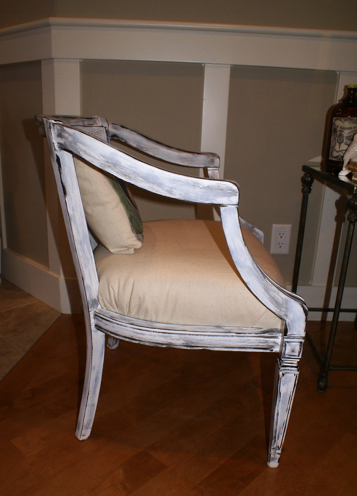 Antique tub chairs - I Painted Them My Favorite Off White Then Made Them Pop With My Shabby Style