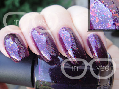 OPI Merry Midnight swatch
