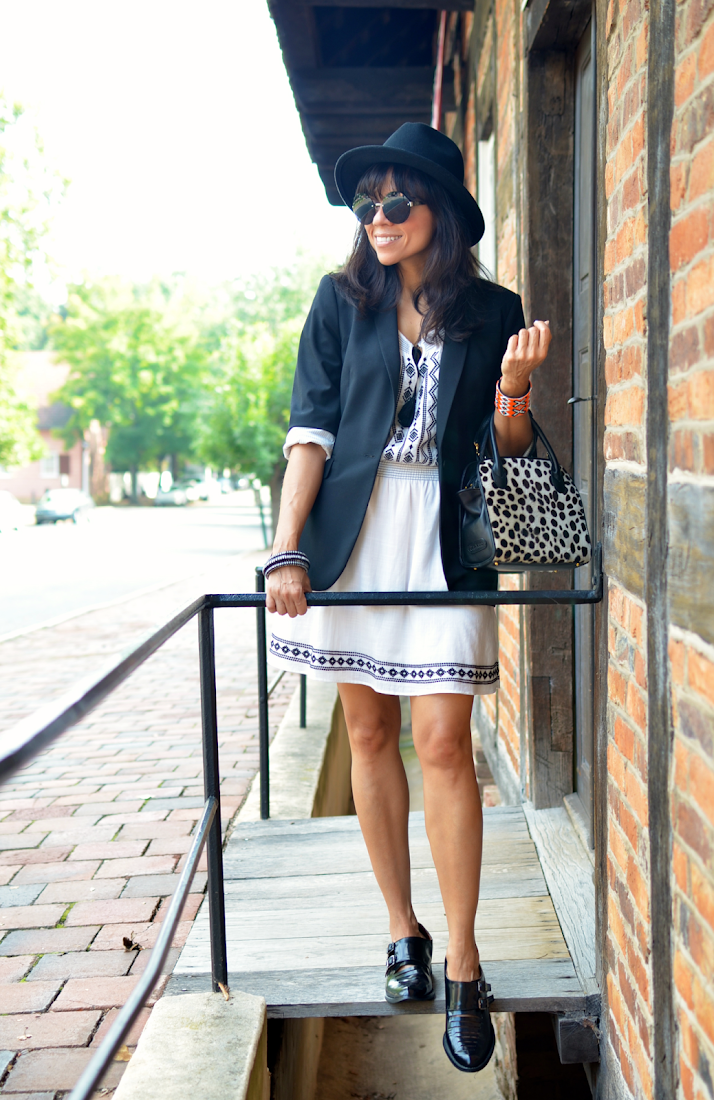 Black and White Dress Street Style