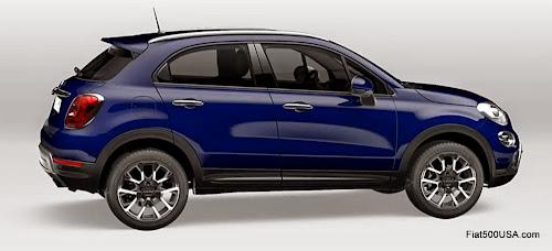 Fiat 500X in Blue