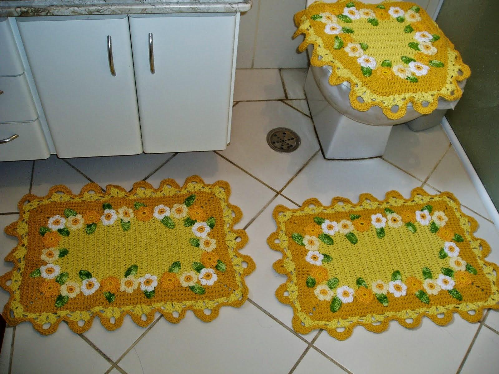 Jogos de Banheiro de Crochê Feitos com Barbante Toda Atual #71470B 1600 1200