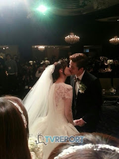 wonder girls sunye james wedding kiss