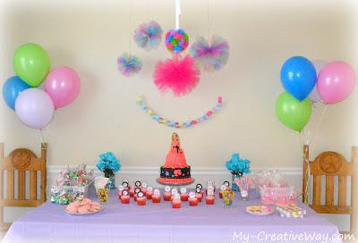 My Creative Way All Dolled Up Barbie Party Barbie Party Ideas