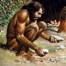 A era da pedra lascada no Paleolítico