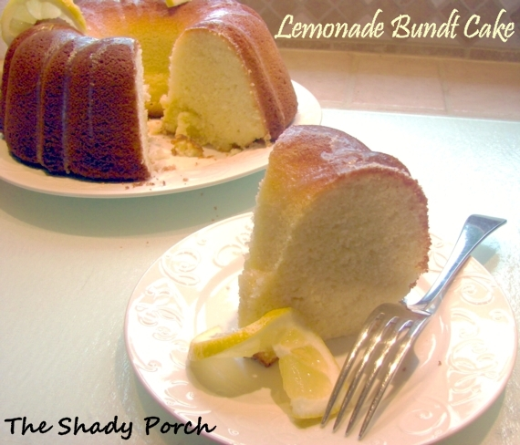Lemonade Bundt Cake w/Lemon Butter Glaze #cake #dessert #lemon #glaze
