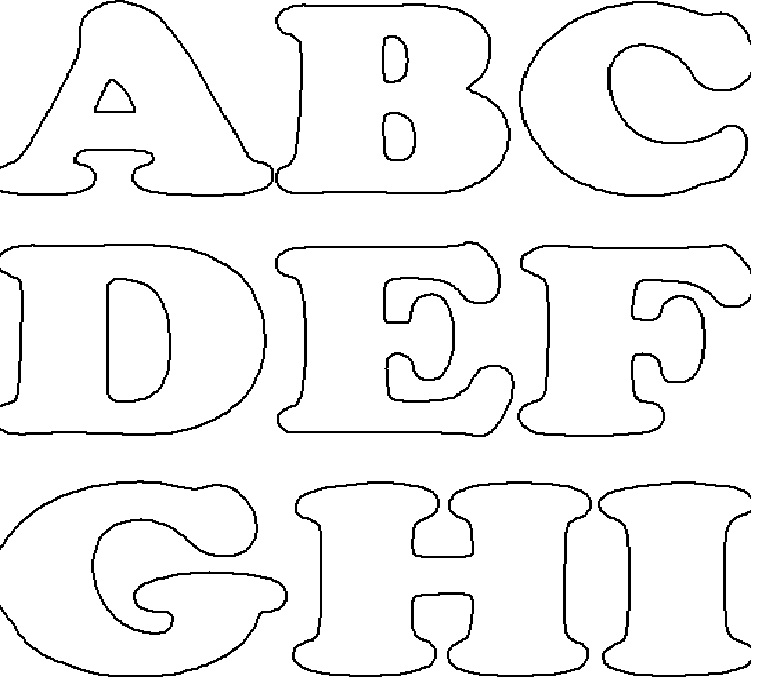 moldes de letras on Pinterest   Alphabet, Patrones and