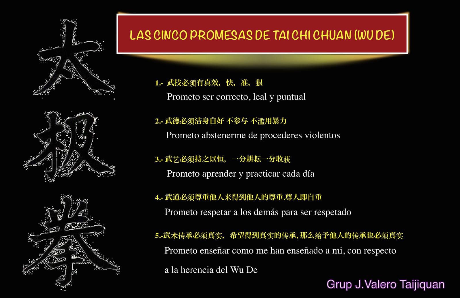 WUDE La ética del Tai Chi Chuan