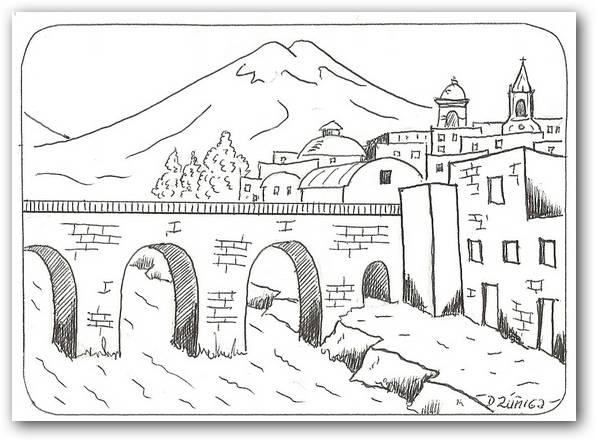 Dibujos para colorear paisajes  Dibujos para Colorear