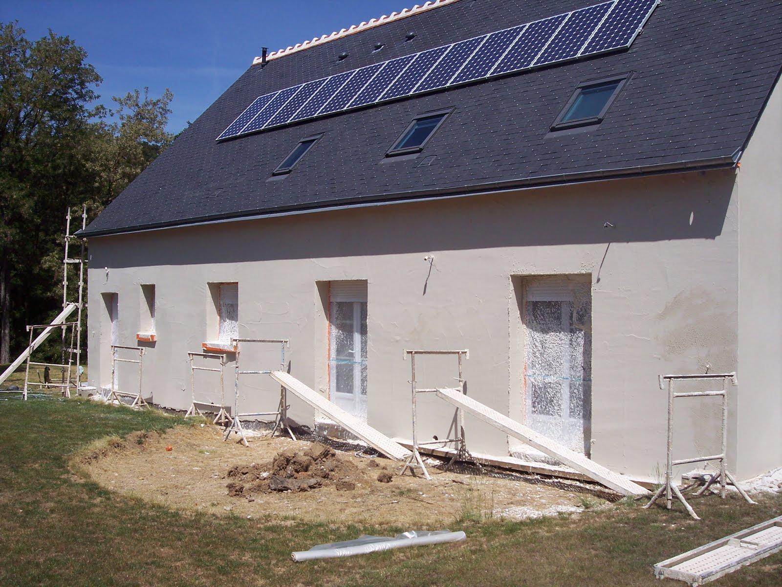 Notre maison en autoconstruction enduit ext rieur for Enduit exterieur