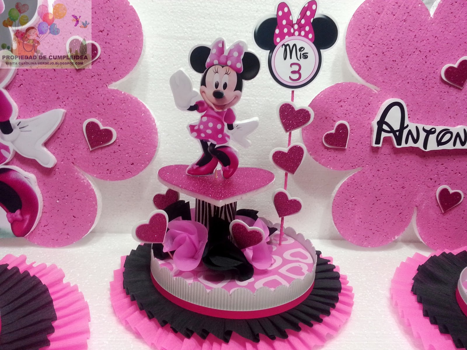 Pin pictures decoraciones infantiles minnie mouse baby for Decoraciones infantiles