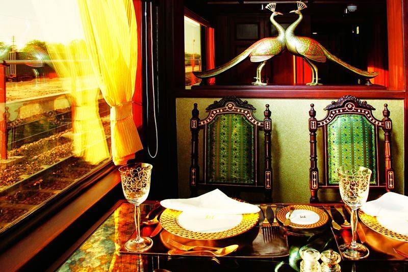 Maharajas' Express - Mayur Mahal, dining.