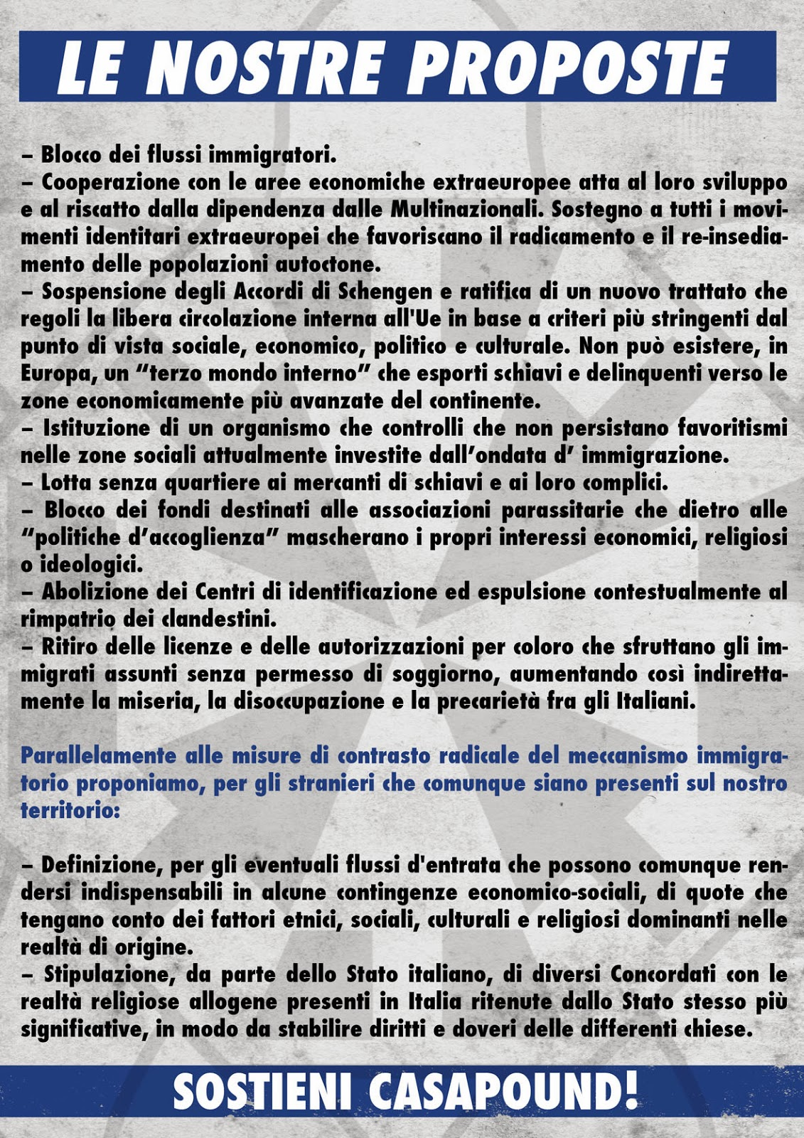 Perugia blitz di casapound ad eurochocolate italiano il for Permesso di soggiorno schengen
