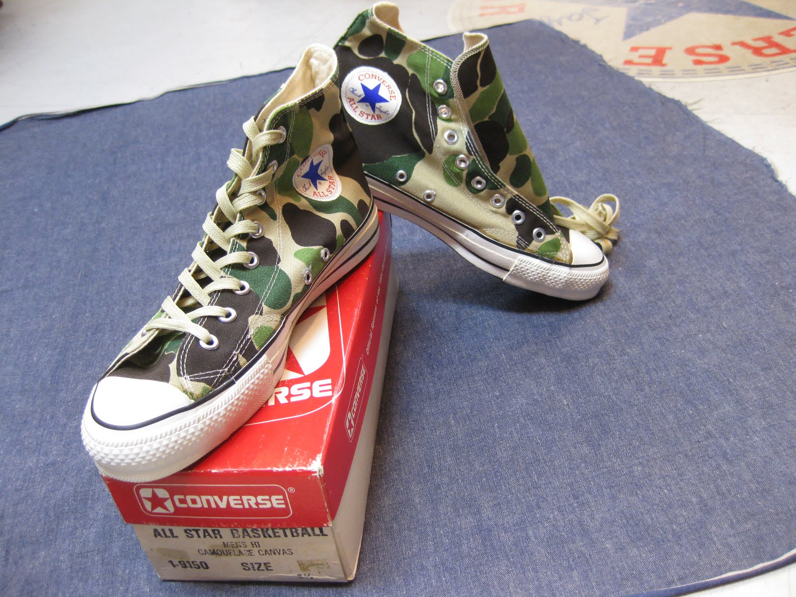 80's 箱付き DEAD STOCK               CONVERSE ALL STAR               Hi. CAMOUFLAGE