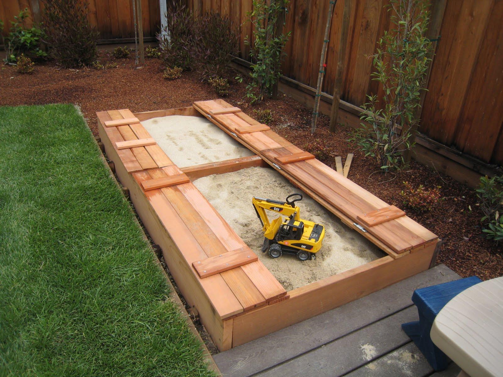 sandbox with seating