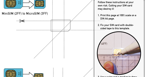 How to Convert Micro SIM into Nano SIM for iPhone 5 – Micro Sim Template