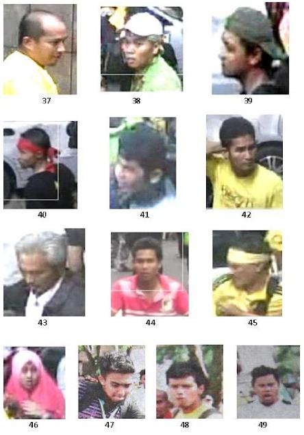 Wajah Perusuh Bersih 3.0 Yang Diburu Polis