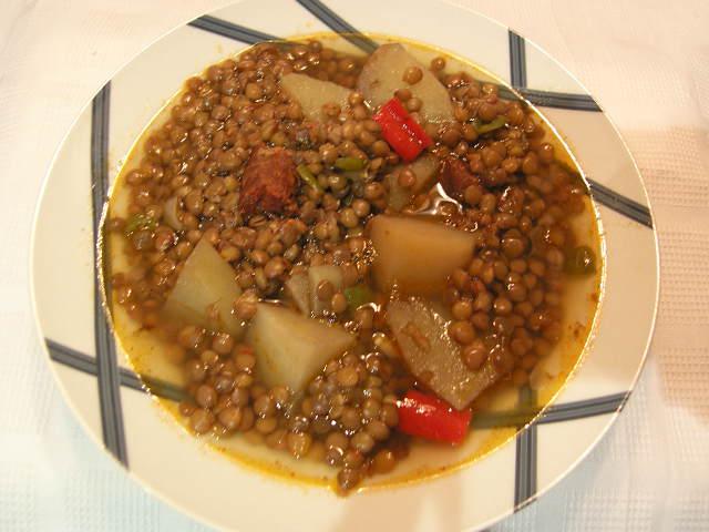 Can joan i sara lentejas con patata y pimientos sorteo dedicatoria - Lentejas con costillas y patatas ...