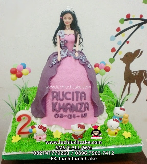 Princess Barbie with Hello Kitty Birthday Cake (REPEAT ORDER)