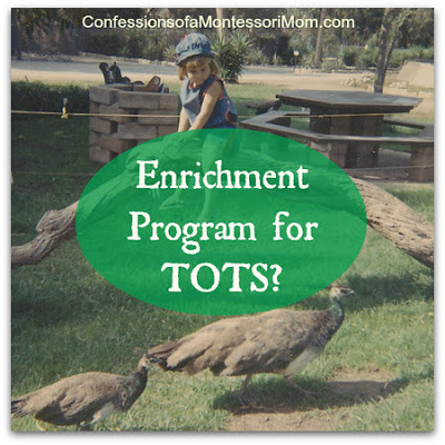 Enrichment Program for TOTS? {Confessions of a Montessori Mom}