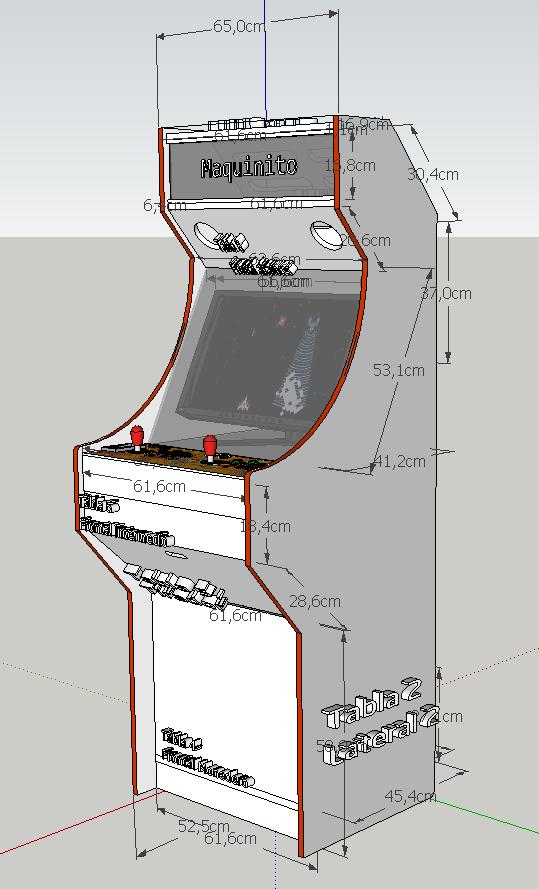 Maquinito medidas de mueble de m quina recreativa arcade for Mueble maquina recreativa