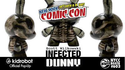 New York Comic Con 2015 Exclusive Infected Dunny Resin Figure by Scott Wilkowski x Kidrobot x Clutter