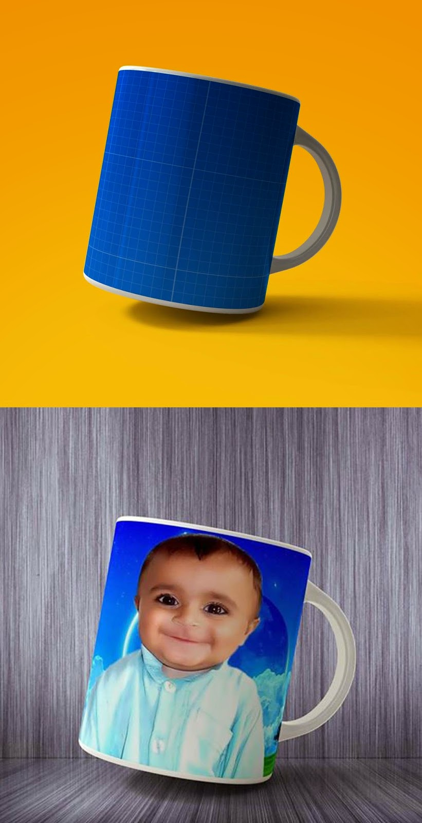 Picture in Tea Cup PSD File