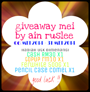 http://celotehbudakkechiq.blogspot.com/2014/05/giveaway-mei-by-ainruslee.html