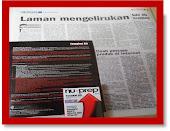 Metro Ahad 9,9,2012 dari PAKAR Laman web perbodoh pembeli.Hanya Nu-Prep 100 BMB kajian terbaik
