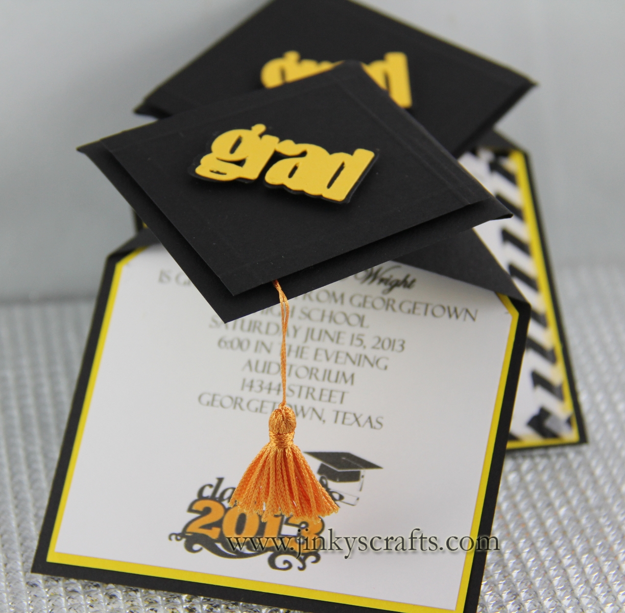3d graduation cap pop up invitations jinkys crafts stopboris