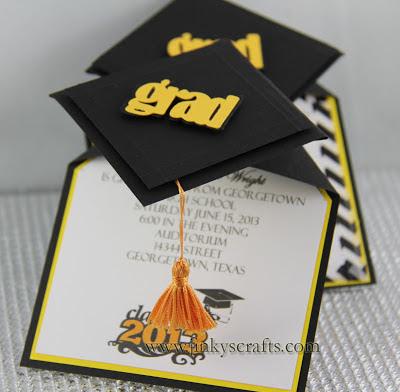 3d Graduation Cap Pop Up Invitations Jinkys Crafts